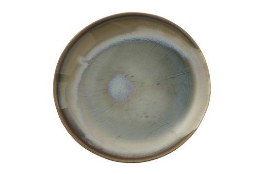 Teller Bruyère aus mehrfarbigem Stein