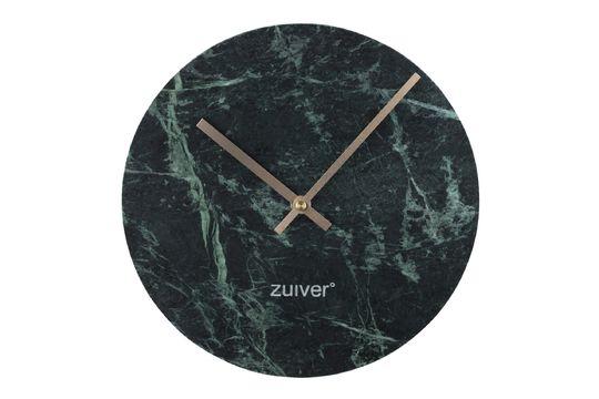 Time Uhr aus grünem Marmor