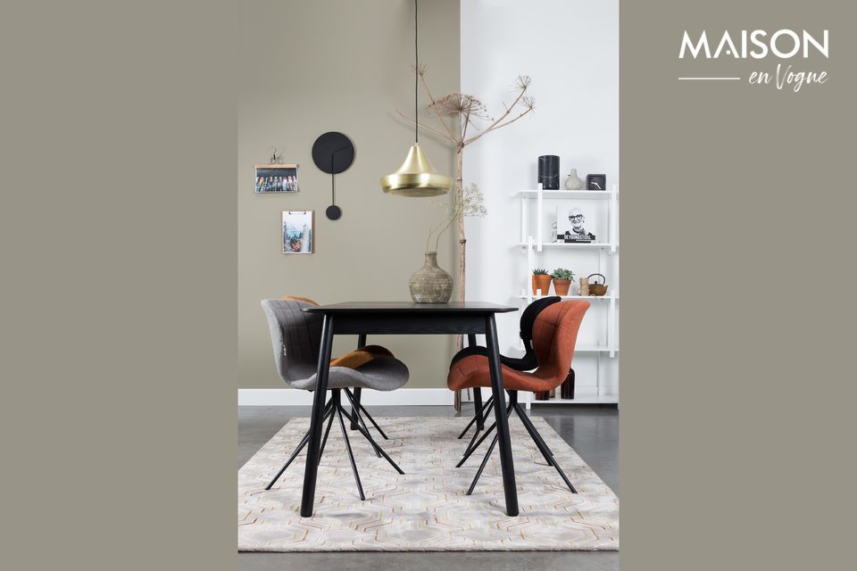 Tisch Glimps 120 162x80 schwarz Zuiver