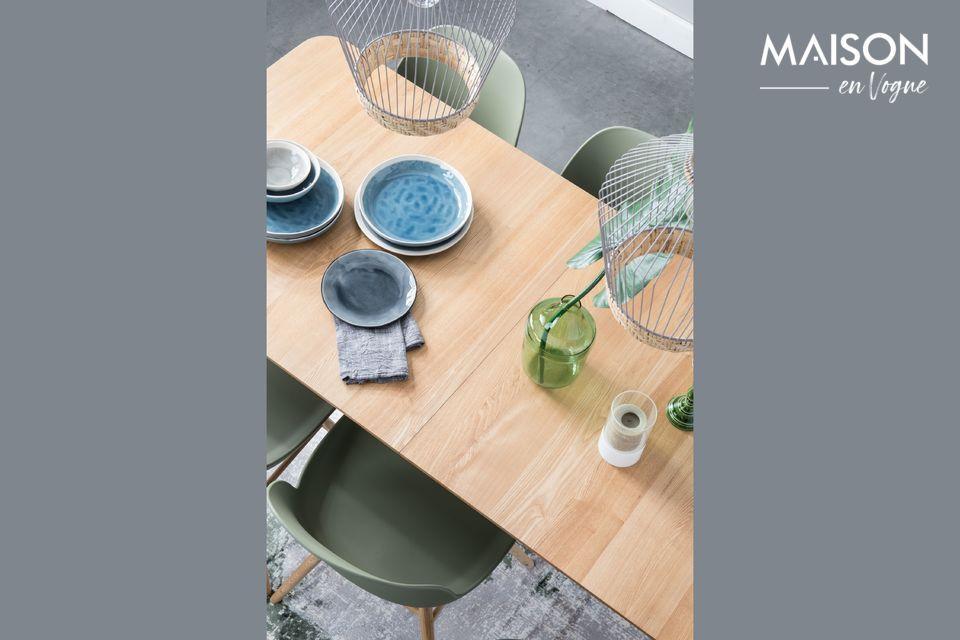 Dieser Tisch Glimps 180/240x90 in Natur wird sich leicht an Ihr tägliches Leben anpassen
