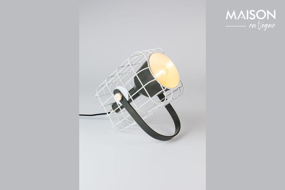 Tischlampe Cage weiß White Label