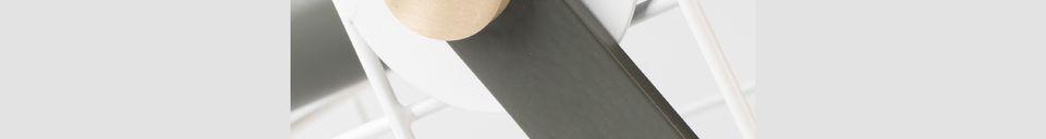 Materialbeschreibung Tischlampe Cage weiß