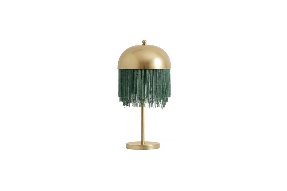Perfekt gefertigte Lampe, in Grün und Gold