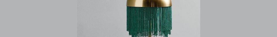 Materialbeschreibung Tischlampe Fransen