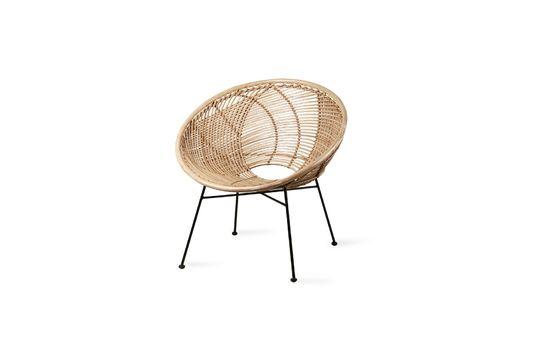 Vitteaux Stuhl aus natürlichem Rattan