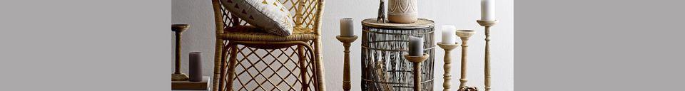 Materialbeschreibung Vrocourt Beistelltisch aus Bambus